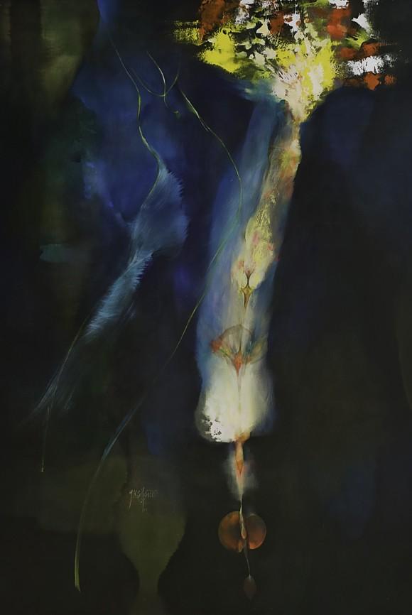 Ernesto García Peña. Para semilla, 2008. Acrílico lienzo 200 x 134