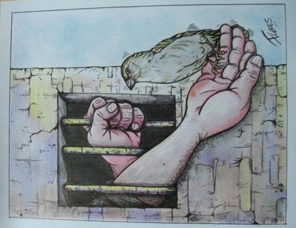 Caricatura de Marcial Flores González