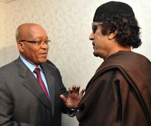 Zuma y Gadafi en Trípoli.