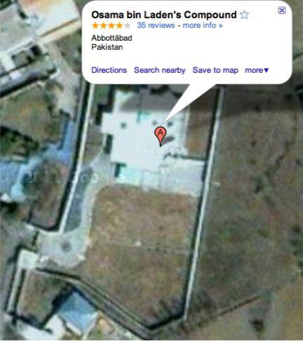 Una imagen tomada por Google Earth