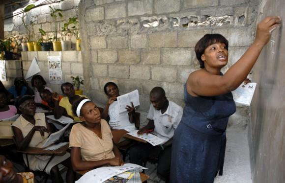 Yo sí puedo en Haití. Foto: Roberto Suárez
