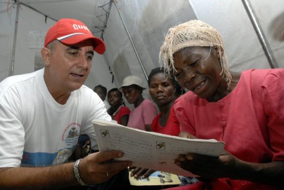 Yo sí puedo en Haití. Foto: Roberto Suár