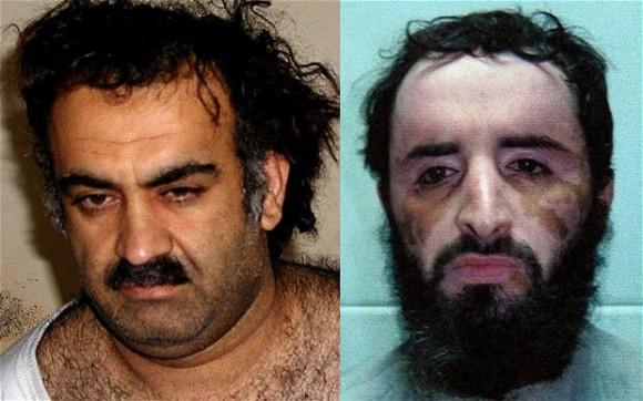 Khalid Shikh Mohamed, al ser apresado y en una foto más reciente. Foto: The Telegraph