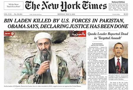 La portada del New York Times