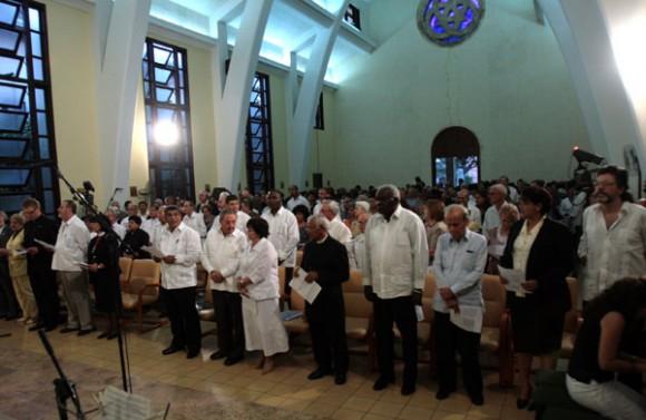 Raúl participa en acto por aniversario Consejo de Iglesias. Foto: Ismael Francisco
