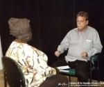 Rubiera es entrevistado por la TV de Barbados.