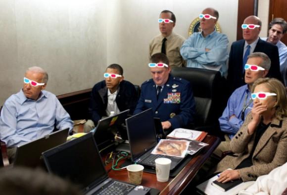 Sala situacional de la Casa Blanca, por @sallonoroff en Twitter