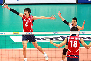 Surcorea le ganó por primera vez a Cuba en Ligas Mundiales.  Foto FIVB