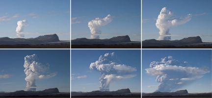 Esta imagen muestra la evolución de la nube de ceniza causada por la erupción del volcán islandés Grimsvötn, desde el pasado sábado. (Foto: REUTERS)