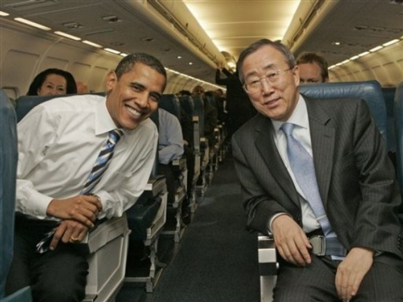 Barack Obama y Ban Ki-moon.