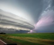 La tormenta que produjo el granizo de ocho pulgadas de diámetro sobre Vivian, Dakota del Sur, el 23 de julio 2010. | Foto: Chad Cowan