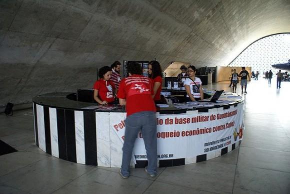 Buró de Información para los participantes.  Foto: Norelys Morales