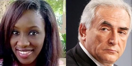 Dominique Strauss-Kahn y la supuesta imagen de la camarera que han divulgado los medios.