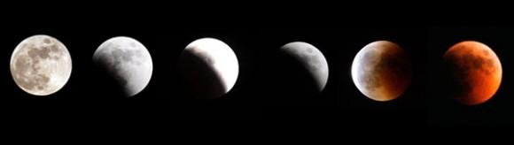 Eclipse Lunar visto desde la Franja de Gaza