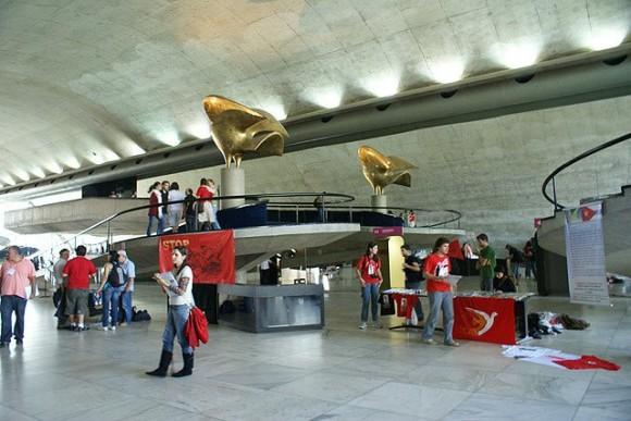 Lobby del Memorial de América Latina, sede de la Convención. Foto: Norelys Morales