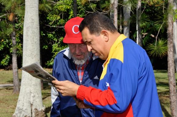 Imágenes del encuentro de Fidel y Chávez  (Video + Fotos)