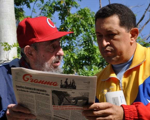 fIDEL Y cHÁVEZ EL 28 DE JUNIO DE 2011