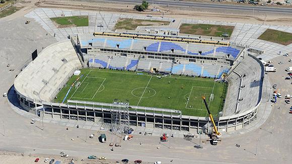 Estadio del Bicentenario. San Juan (115.000 habitantes), capital de la provincia homónima, a 1.113 kilómetros al oeste de Buenos Aires.
