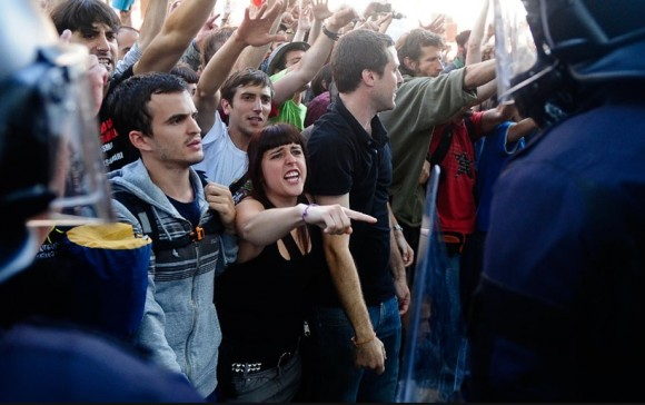 Indignados en Barcelona