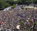 """Miles de """"indignados"""" de todos los barrios y pueblos de Madrid"""