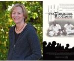 Jenny Phillips es cineasta y escritora. Aquí está junto al cartel de su documental
