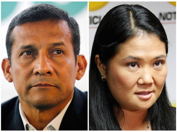 Ollanta Humala y Keiko Fujimori. Foto: Reuters