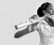 La flautista. Foto: Roberto Chile