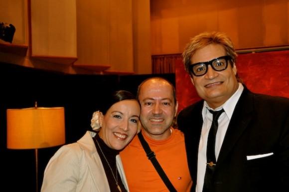 """Lizt, Manolito Iglesias y  Amaury en """"Con 2 que se quieran"""". Foto: Petí"""