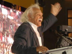Manolis Glezos en un discurso de la coalición Synaspismós Syriza en 2007.