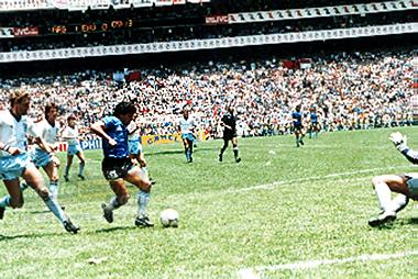 Maradona en el gol de la historia