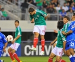 El juego entre México y El Salvador. Foto: Ulises Bravo