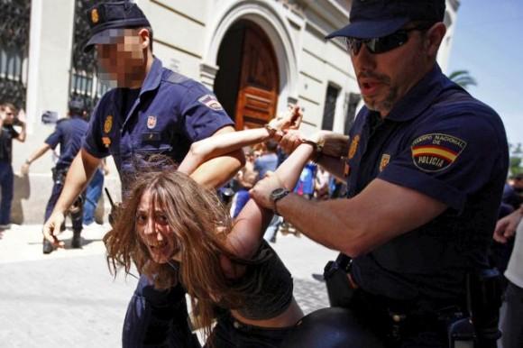 ESPAÑA CRISIS PROTESTAS