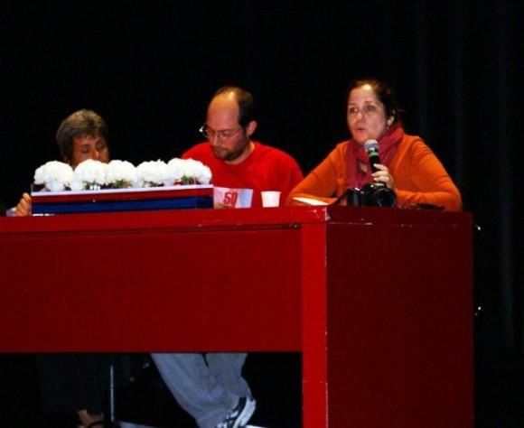 La editora de Cubadebate Rosa Miriam Elizalde interviene en uno de los paneles del evento.  Foto: Norelys Morales