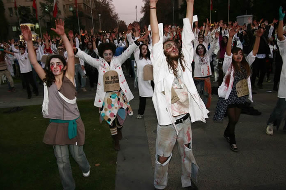 Thriller por la educación. Foto: UPI/Agencia Uno