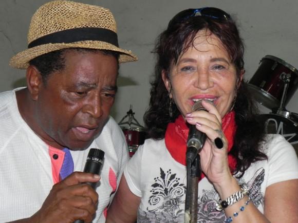 Zaida y José Antonio Pérez, cantante del Septeto Habanero. | Foto: Marianela Dufflar