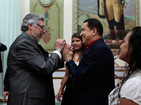 Hugo Chávez y Fernando Lugo.