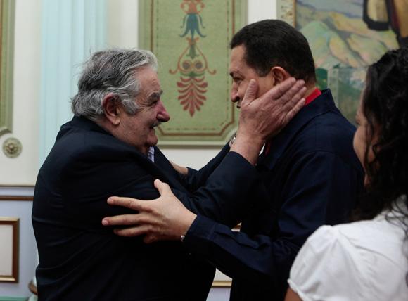 Hugo Chávez y Pepe Mujica