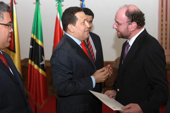 Chávez con Evo, el Pepe y Lugo en el Bicentenario