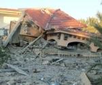 La casa de la familia Al-Hamedi, bombardeada por la OTAN. | Foto: Franklin Lamb / Red Voltaire