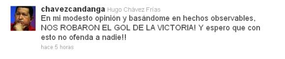 @chavezcandanga comenta sobre el resultado del partido de fútbol entre Venezuela y Paraguay