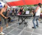 Los músicos que integran el grupo de David Blanco, también dieron lo mejor de sí, en este concierto. Foto: Marianela Dufflar.