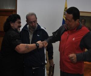 Maradona, Fidel y Chávez.
