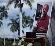 Homenaje a Lucius Walker, en el Memorial Jose Martí en la Plaza de la Revolución. Foto: Ismael Francisco