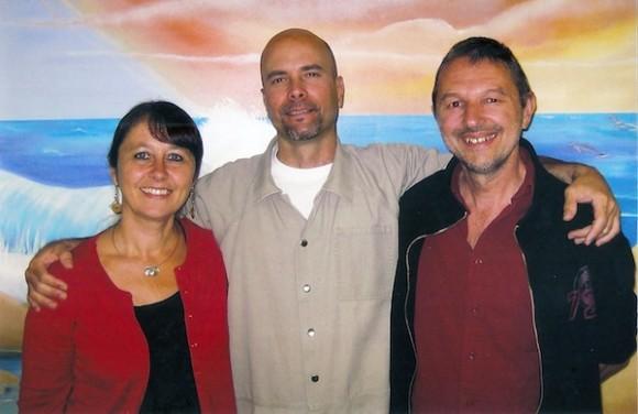 Katrien, Gerardo y Marc en julio de 2011.