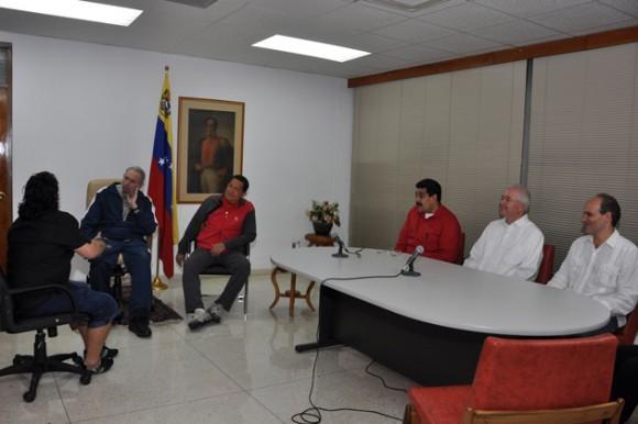 Maradona, Fidel y Chávez. Foto: Estudios Revolución