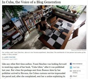 Yoani Sánchez en The New York Times