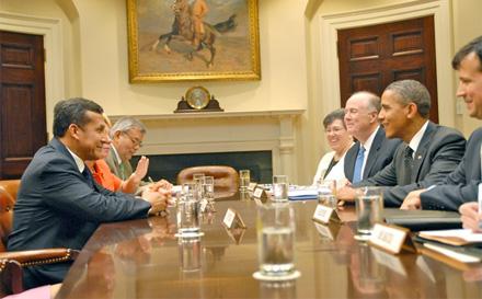 El mandatario Barack Obama recibió a Ollanta Humala en la Casa Blanca.