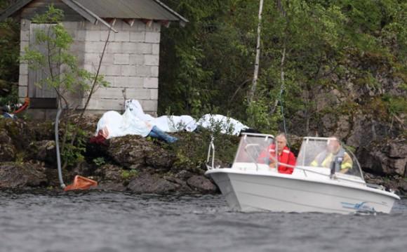 Las impactantes imágenes tras el tiroteo en la Isla de Utoeya. Foto: Reuters