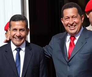 Ollanta Humala, durante visita a Venezuela. Foto de Archivo
