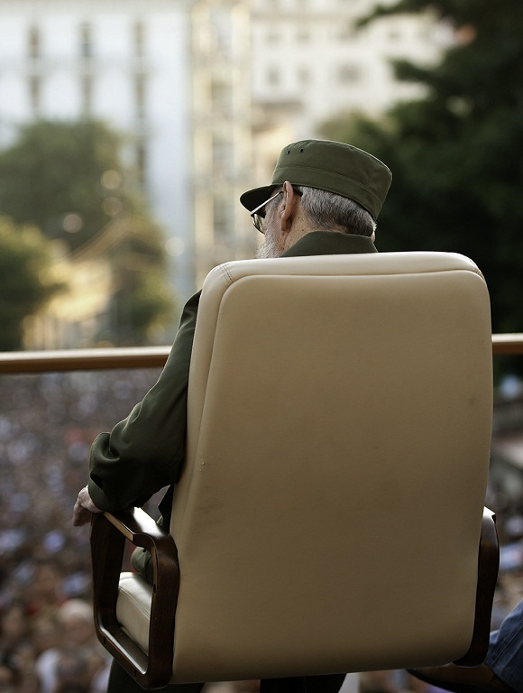 Fidel en la universidad 2010. Foto: Roberto Chile